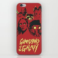 starlord iPhone & iPod Skins featuring Guardians by Perry Misloski