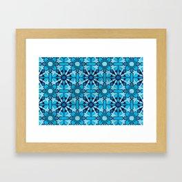 Ocean Mosaic Framed Art Print