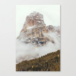 Panorama in Alta Badia, Alto Adige, Italian Alps Canvas Print