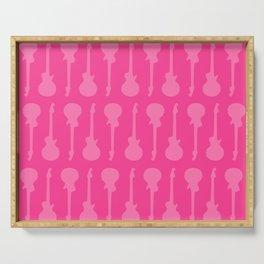Pink Punk Guitar Serving Tray