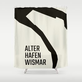 Wismar Alter Hafen Grotesk Shower Curtain