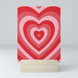 Hypnotic Hearts Mini Art Print