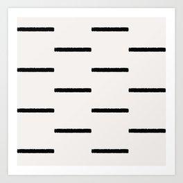 Simple black stripes Art Print