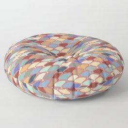 Retro Orchard Floor Pillow