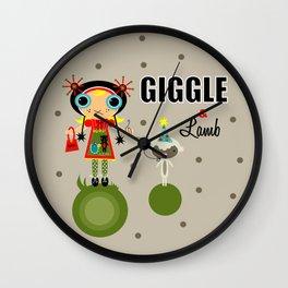 Giggle & Lamb Wall Clock