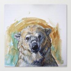 Polar Bear Portrait - Wistful Bear Canvas Print