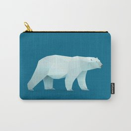 Geometric Polar Bear - Modern Animal Art Carry-All Pouch