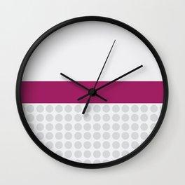 PURPLE STRIPE Wall Clock