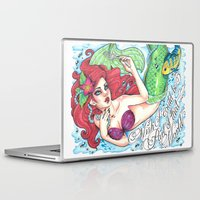 ariel Laptop & iPad Skins featuring Ariel by Little Lost Forest