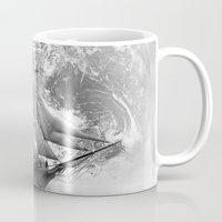 uncharted Mugs featuring Sailing uncharted waters by Sney1