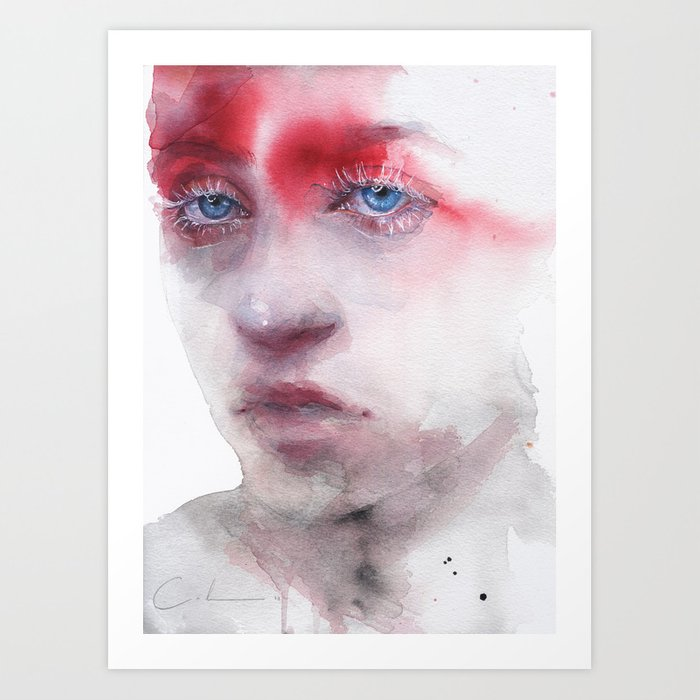 Discover the motif RED SHADE by Agnes Cecile as a print at TOPPOSTER