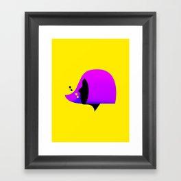 She Sings (Yellow) Framed Art Print