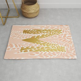 Botanical Metallic Monogram - Letter M Rug