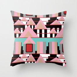 Postmodern City Skyline Throw Pillow