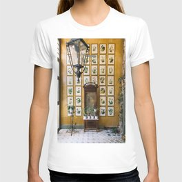 A Wall of Orchids, Merida, Mexico T-shirt