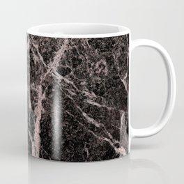 Rose Gold Pink & Black Marble Coffee Mug