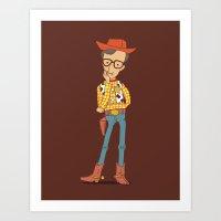 woody allen Art Prints featuring Woody Allen  by I Love Doodle