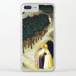 Sano di Pietro The Meeting of Saint Anthony and Saint Paul Clear iPhone Case