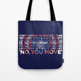 Civil War Quote Tote Bag