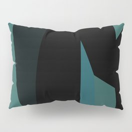 teal and black abstract Pillow Sham