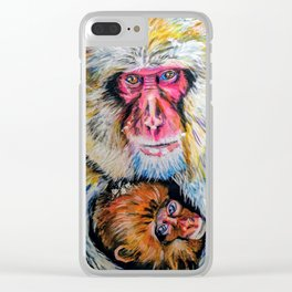 Warm Hugs Clear iPhone Case