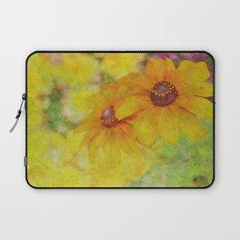 Soft Yellow Flowers Laptop Sleeve
