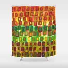Frames under Color Shower Curtain