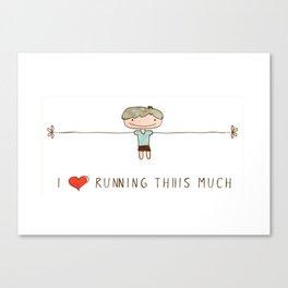 I love running boy Canvas Print