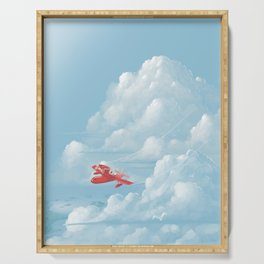 Porco Rosso flying Serving Tray