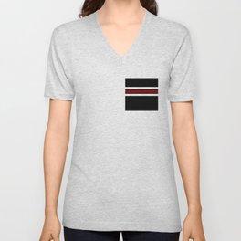 Team Colors 2...Maroon/white Unisex V-Neck