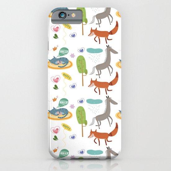 Happy animals iPhone & iPod Case