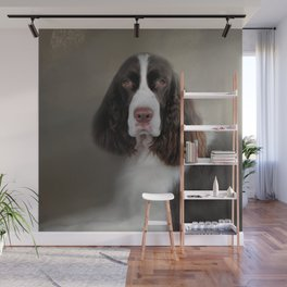Waiting Patiently - English Springer Spaniel Wall Mural