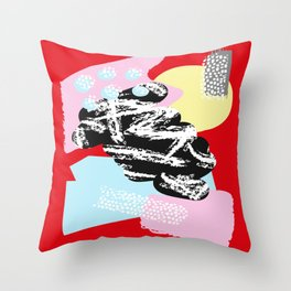 Collage Pattern 01 Throw Pillow