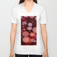 grease V-neck T-shirts featuring Bacon Grease Blood Cells by Lyssia Merrifield