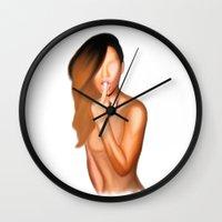 rihanna Wall Clocks featuring RIHANNA by HAUS OF DEVON