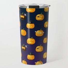 Halloween Jack-o'-lantern Travel Mug
