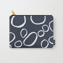 Daisy Circles Navy Carry-All Pouch