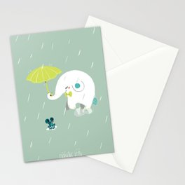 Rainy Elephant Stationery Cards