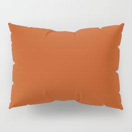 Rust - solid color Pillow Sham
