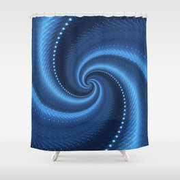 POWER SPIRAL UNIVERSE IN BLUE Shower Curtain