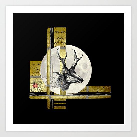 Golden. A. Art Print