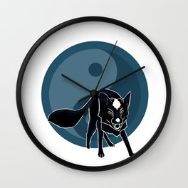 Yin Fox Wall Clock