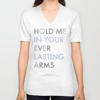 vampire weekend V-neck T-shirts featuring Vampire Weekend - HOLD ME IN YOUR EVERLASTING ARMS by Corrie Jacobs