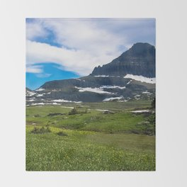 Logans Pass, Glacier National Park Throw Blanket
