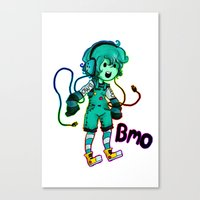 bmo Canvas Prints featuring BMO! by Beelzey-Soda