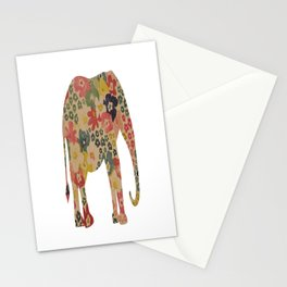 Flower Power Elephant Stationery Cards
