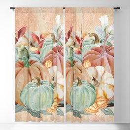 Watercolor Pumpkin Collection: Fall Harvest Blackout Curtain