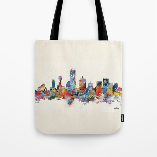 dallas texas skyline Tote Bag