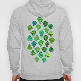 Green gemstone pattern. Hoody
