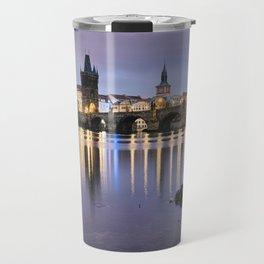 Charles Bridge at dawn Travel Mug